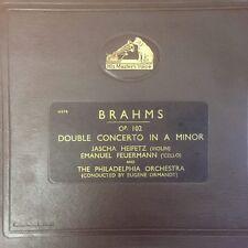 DB 6120-23 Brahms Double Concerto / Heifetz / Feuermann / Ormandy 4 x 78rpm