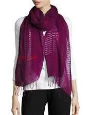 NWT EILEEN FISHER Airy Linen Wool Cashmere Scarf PETUNIA 80X27