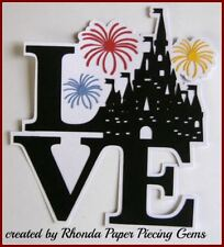 LOVE DISNEY CASTLE title paper piecing Premade Scrapbook Pages albums cards by R