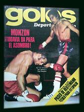 CARLOS MONZON vs ANTHONY MUNDINE - Goles 1343 magazine Argentina 1974