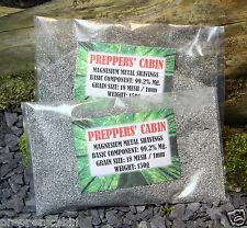 150 grammi di magnesio metallo trucioli (trucioli non polvere) 1mm 18mesh FIRE STARTER