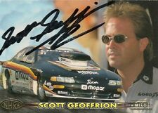 Scott Geoffrion 1997 Hi Tech Winston Pro Stock Mopar Dodge Avenger signed card