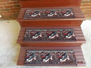 """15 Indoor Stair Treads  9""""x 27""""     Nylon / Polyester"""