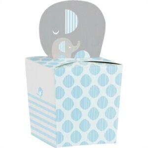 "Little Peanut Boy Baby Shower Favor Boxes Wild Safari 4.25"" x 2"" Paper 8 Pack"