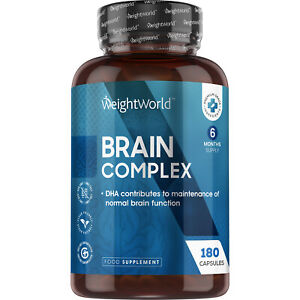 Brain Booster 180 Capsules With DHA for Memory, Nootropic & Focus Supplement
