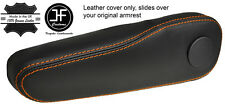 Cuciture color arancio 1X Sedile Conducente Bracciolo Pelle Copertura si adatta Honda Jazz 2009-2014
