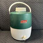 Vintage Coleman 2 Gallon Water Cooler Jug Green USA MADE WICHITA KANSAS COOL