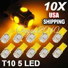 10 T10 W5W 194 158 168 501 Car Auto Canbus Amber 5 SMD LED Wedge Bulb Light Lamp
