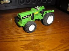 """RARE Vintage 3 3/4"""" long Farm Tractor with pull front wheel drive back action"""