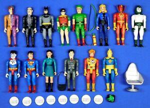 DC DIRECT POCKET HEROES 14 FIGURE LOT -- BATMAN, SUPERMAN, MORE