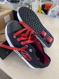Heeleys X2 Black and Red Roller Skate Trainer Size UK 2 Children's Kids Shoes