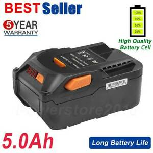 5.0AH 18V Li-ion Battery For AEG L1830R L1815R B1820R B1814G Ridgid R840083