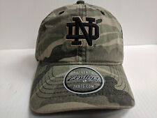 new style d42e1 a7fc6 Notre Dame Irish Cap Zephyr Adjustable Strapback Umaverick Camo  Unstructured Hat