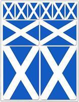 Set 10 Vinyl Decal Stickers Scotland National Flag Scotish Car Helmet Moto D 35