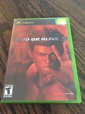 Dead Or Alive 3 Original Microsoft Xbox Cib Game Works X1
