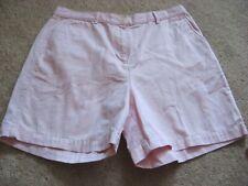 Womens Lt Pink RALPH LAUREN Flat Front Shorts 14 Petite