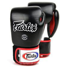 Fairtex 3 Tons Gants de Boxe Noir Muay Thai Entraînement MMA 14oz