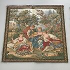"""Antique """"Le Nid"""" Tapestry Aubusson Style Made In France Never Mounted"""