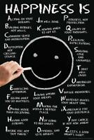 Happiness Is A-Z Motivational Mural inch Poster 36x54 inch