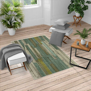 Ambesonne Grunge Wood Planks Barn Country Farm Area Rug for Living Room Decor