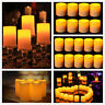 2-100 Pack Romantic Flameless LED Candle Light With Timer for Wedding Party Xmas
