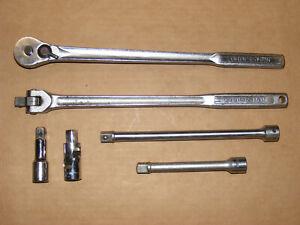 "Craftsman USA 1/2"" Long Ratchet, Breaker Bar & Extension Lot"