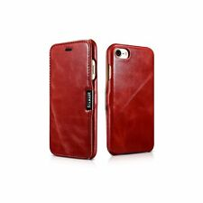 Case ICARER FOLIO Leather VINTAGE for Apple iPhone 7 PLUS - RED