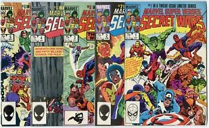 Secret Wars #1 - 7, 9 - 12  avg.  NM- 9.2  Marvel  1984  No Reserve