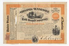 General William Mahone - Virginia and Tennessee Railroad Bond