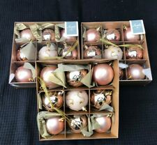 JOB LOT CLEARANCE SALE Rose Gold Christmas Tree Bauble Decorations x 27