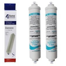 2 x Activated Carbon Water Filters For Daewoo American Style Fridge Freezers