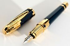 Rare New,S.T.Dupont 1998 NUEVO MUNDO SAPHIRE FOUNTAIN PEN LIMITED EDITION.Cartie