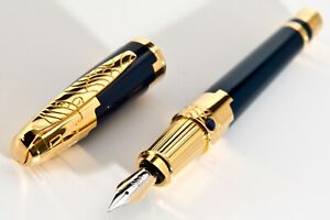 New,S.T.Dupont 1998 NUEVO MUNDO SAPHIRE FOUNTAIN PEN, LIMITED EDITION