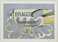 """""""Galerie Maeght 1952"""" by Georges Braque Signed Lithograph 6 1/2""""x9"""""""