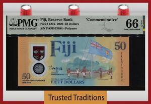 TT PK 121a 2020 FIJI RESERVE BANK 50 DOLLARS COMMEMORATIVE PMG 66 EPQ GEM UNC!