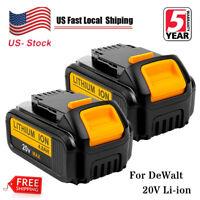 2x DCB205-2 For DeWalt 20V 20 Volt Max XR Lithium Ion Battery Pack DCB204-2 4.0A