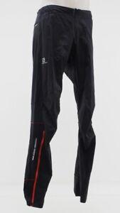 Salomon Men's S-Lab Trail Running Pants Size Medium Red/Black Zip Ankle