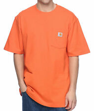 Carhartt Workwear Orange Pocket Short Sleeve T Shirt - Size Large - NEW