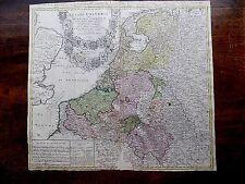 1747 Genuine Antique Map Belgii Universi Netherlands Belgium Homann Heirs Majer?