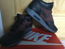 Rare Nike Air Max 1 Mid Deluxe QS Black and Barkroot Brown UK10 2015 Deadstock