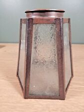 Antique Arts And Crafts Copper, Other Metal Octagonal Frosted Glass Sconce Shade