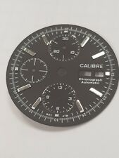 Calibre Watch dial for ETA Valjoux 7750 unused black dial matt