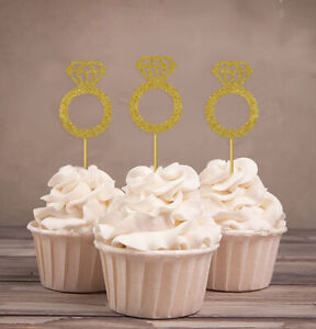 Darling Souvenir| Wedding Engagement Ring Cupcake Toppers| Party-cTF
