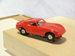 FALLER AMS HO Scale Slot Car Classic Ferrari 250 in Red, German Chassis