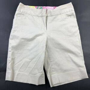 Lilly Pulitzer Womens 0 Beige Chino Shorts