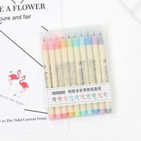 10 Colour Artist Brush Pens Watercolour Drawing Calligraphy Painting Pen Set !