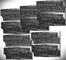 Giessformen für Beton Gips Wandverblender 10 Formen /1 m2 Schieferstruktur 310