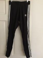 Adidas Originals Sweat Womens Leggings 3 Stripes Black Size UK 12