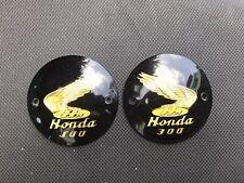 Honda Dream C76 C77 C78 CA77 CB77 CL77 L/R Fuel Tank Badges Emblem Gold *NEW*