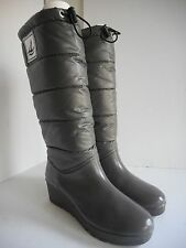 Sperry Top-Sider GRAY WATERPROOF Quilted Knee High Duck Boots - Size 9